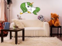 FULL COLOUR Unicorn Wall Art, 3D Sticker, Modern Transfer, Fantasy, PVC Decal,